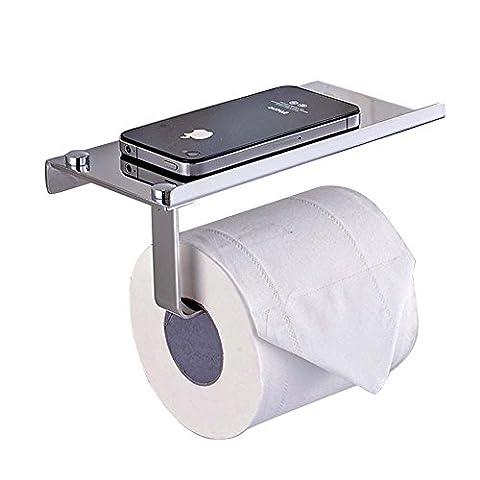 Support pour papier toilette SUS304en acier inoxydable résistant à la rouille support mural de cuisine Rouleau de papier de soie Serviette Cintre Organiseur Rack avec téléphone portable étagère de rangement