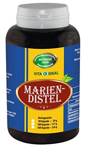 Pflanzliche Adstringierend (Mariendistel 360 Kapseln (Milk Thistle) je 550mg)