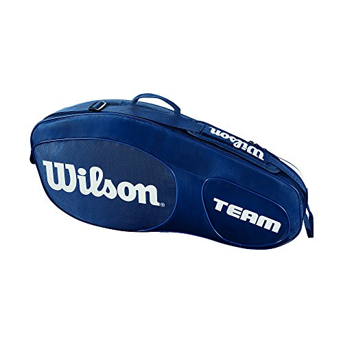 Wilson Damen/Herren Tennis-Tasche, für Spieler Aller Spielstärken, Team III 3 PK, Einheitsgröße, Blau/weiß, WRZ850803