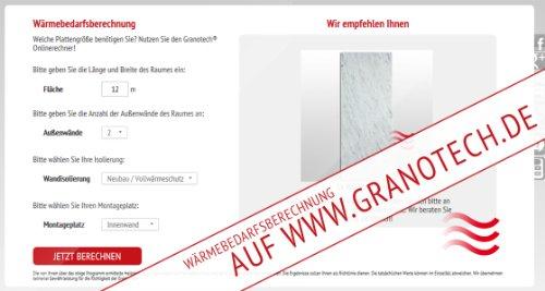 Granotech® Marmor-Infrarotheizung / 800 Watt Carrara Komplettpaket - 6