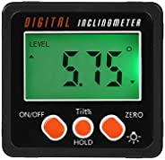 Multifunctional Mini Backlight Digital Display Protractor Inclinometer Level Box Angle Gauge Meter 4 * 90 Degr
