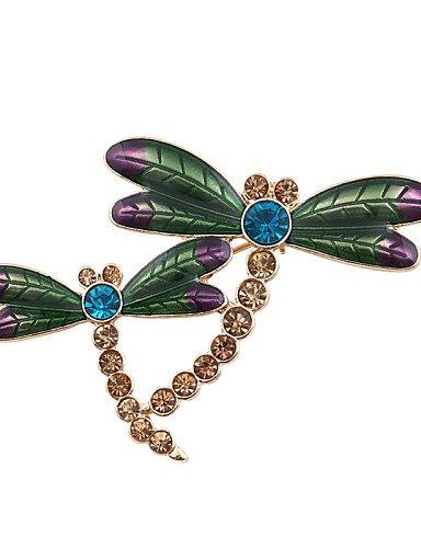 moda donna pietra set di smalto libellula spilla , green