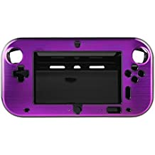 OSTENT Funda de caja de metal de aluminio duro antichoque carcasa Shell compatible con Nintendo Wii U Gamepad color púrpura
