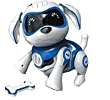 RCTecnic Cane Robot Giocattolo per Bambini Rock Puppy Gioco Interattivo con Emozioni E Movimento, Abbaia E Gioca con Il Tuo Osso, Batteria Ricaricabile E Cavo USB Molto Resistente e Divertente (Blu)