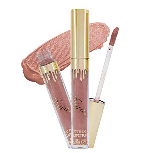Rouge à lèvres, Tefamore Imperméable Crayon liquide à lèvres longue durée Rouge à lèvres mat Maquillage pour les lèvres (A)