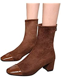 Amazon.it  Scarpe Donna Punta Quadrata - Stivali   Scarpe da donna ... 15769589827