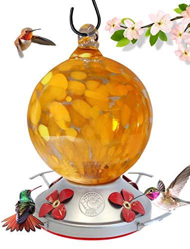 Grateful Gnome Kolibri Feeder-Maurerhammer-Globe Stil Orange - Orange Globe Bird