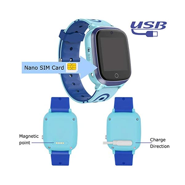 MeritSoar Tech GPS Smartwatch para Niños - WiFi + GPS + LBS Tracker Phone Smart Watch con Contador de Pasos Geo Fence Cámara Calling SOS Chat de Voz Juego para 3-12 Niños Compatible iOS/Android 7