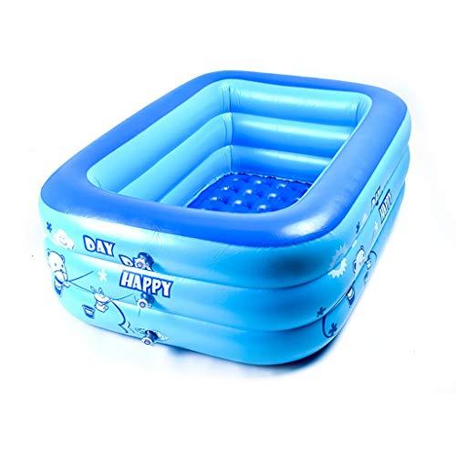 Schwimmbecken Aus PVC, Rechteckiges Planschbecken, Für Kinder | Baby | Erwachsener | 3 Größen Planschbecken (größe : 130×80×40cm) ()