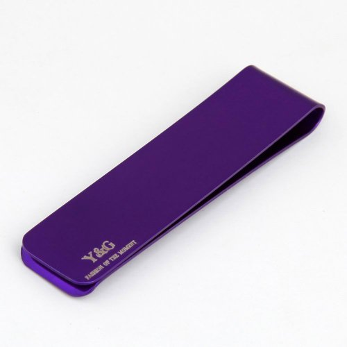 Herren Magnetische Geld Clip (MC1029 Zeitgen?ssische Geschenke Idea Purple Rechteck Edelstahl Silm Geld Clip G¨¹nstige Geldklammern f¨¹r Herren Von Y&G)