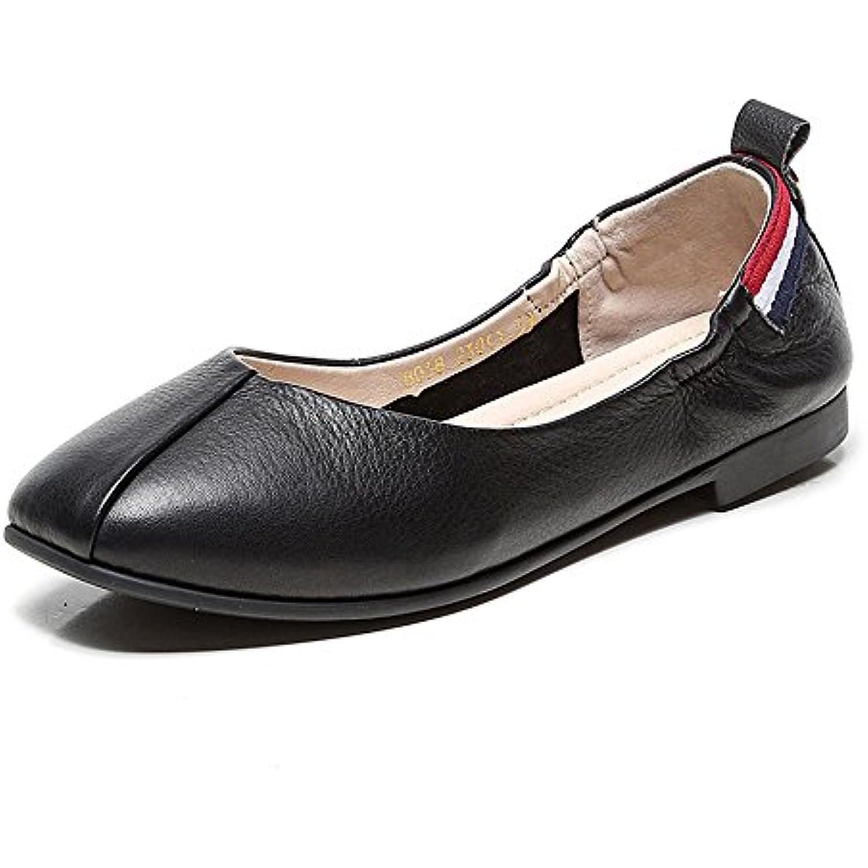 Liuxiaoqing Été Cuir Chaussures Souple Fond Confortable Chaussures Cuir Plates Chaussures Mocassins - B07FTKN9SQ - 87b853