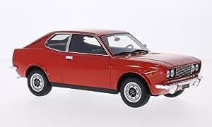 Fiat 128 Coupe 1300 SL, rouge, 1972, voiture miniature, Miniature déjà montée, Laudoracing-Model 1:18