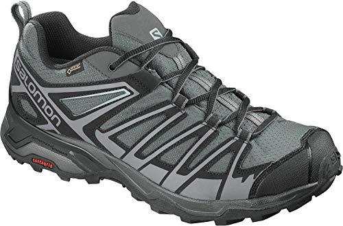Salomon Herren X Ultra 3 Prime GTX, Wander- und Multifunktionsschuhe, Wasserdicht, Grau (Magnet/Black/Quiet Shade), Größe 41 1/3