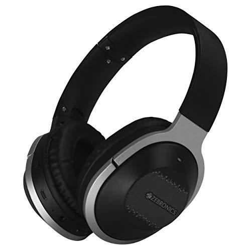 Zebronics Zeb-Zoom Headphone Supporting Bluetooth, Voice Assistant, Aux, Adjustable Headband