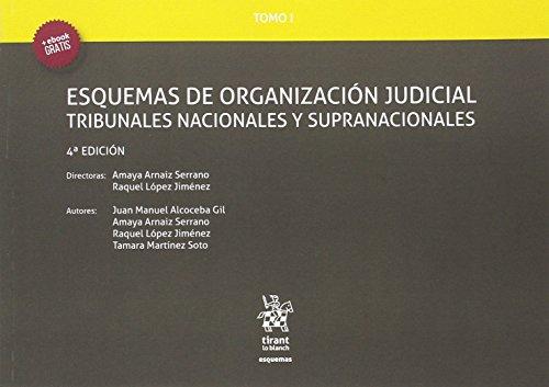 Tomo I Esquemas de Organización Judicial Tribunales Nacionales y Supranacionales 4ª Edición 2016 por Raquel López Jiménez