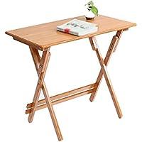 Yuan Table Portable Square - Mesa Plegable - Cocina y Mesa de Comedor Camping - Pequeña Madera Plegable - Mesa de Trabajo Cuadrada - Patas Ajustables en Altura/Desk (Tamaño : 80 * 50cm)