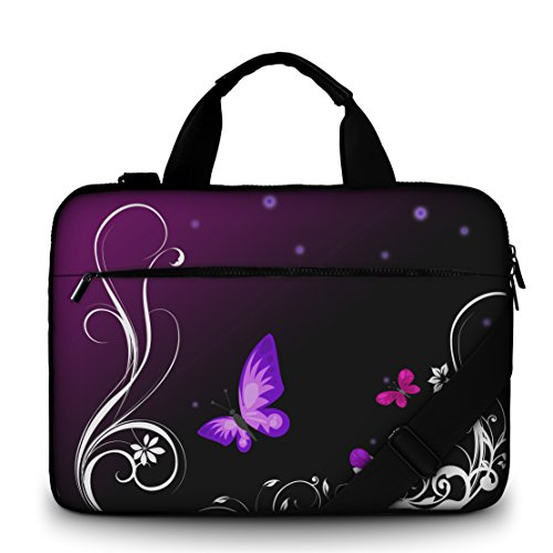 silent-monsters-laptop-bag-case-156-inch-made-of-canvas-with-pocket-for-accessories-design-purple-bu