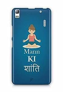 YuBingo Mann Ki Shanti Designer Mobile Case Back Cover for Lenovo A7000