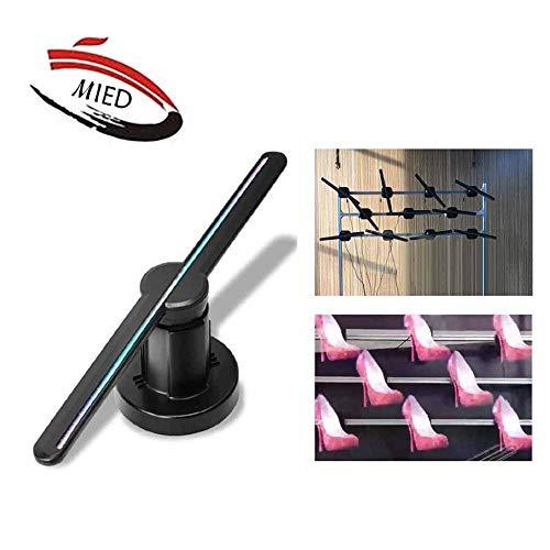 MIEDTY 3D Hologramm Projektor,Tragbar Led Holographic Projector Fernbedienung Es Gilt Für Ladenschilder Bar Versammlungen Einfache Installation/Grün / 43cm