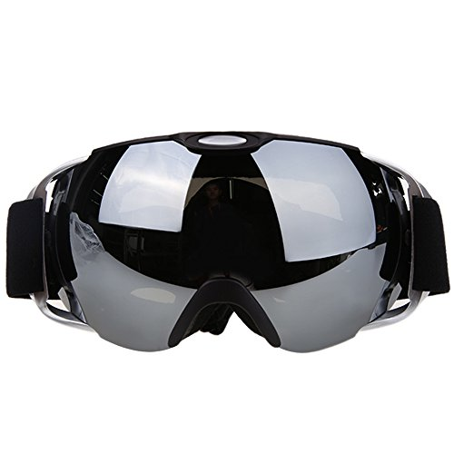 VILISUN Maschera Sci Snowboard, Occhiali da sci, Lenti antinebbia a doppio strati con protezione UV 400, telaio pieghevole, cinturino anti scivolo, 3 strati di spugna super comodo resistente al vento, lenti anti-riflesso e l'isolamento resistente alla polvere