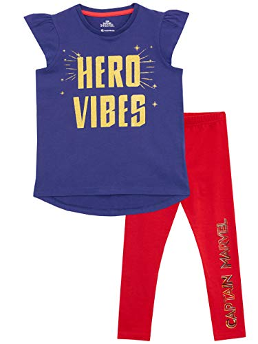 ain Marvel Top und Leggings Blau 134 ()