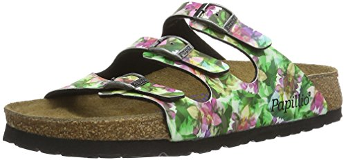 BIRKENSTOCK Florida Birko-Flor Softfootbed, Mules Femme, Mehrfarbig (Painted Bloom Black), Various