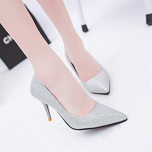 TMKOO 2017 chaussures de mode printemps et en été ont fait des talons hauts talons boîte de nuit coréenne Blanc