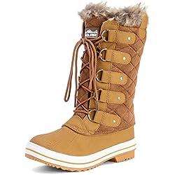 Mujer Acolchado Lluvia Cordones Forrada De Piel Zapato Pato Nieve Botas - TAS39 - AYC0006