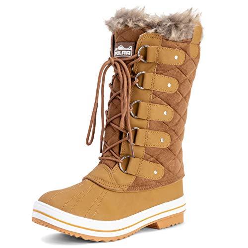 Mujer Acolchado Lluvia Cordones Forrada De Piel Zapato Pato Nieve Botas - TAS40 - AYC0006