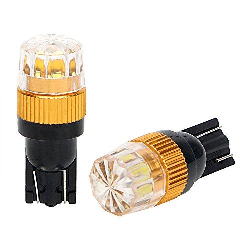 1 paire de voiture côté lumineux Wedge lampe ampoules de stationnement éclairage Intérieur lampe de lecture T10 lumière LED