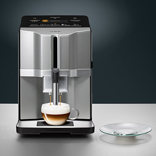 Siemens EQ.3 s300 TI303503DE Kaffeevollautomat (1300 Watt, Keramik-mahlwerk, Display, Direktwahltasten) titanium