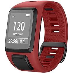 NotoCtiy Bracelet Tomtom Adventurer Montre,Bracelet De Rechange en Silicone pour Tomtom Runner 2 / Runner 3 / Spark 3 / Aventurier/Golfeur 11 Sports GPS Running