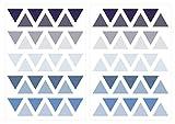 Wandtattoo Kinderzimmer Wandsticker Set Dreiecke in Pastell Blau und Pastell Gr