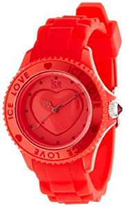 ICE-Watch - Montre femme - Quartz Analogique - Ice-Love - Red - Unisex - Cadran Rouge - Bracelet Silicone Rouge - LO.RD.U.S.10