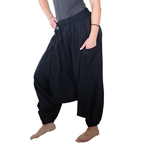 Pantaloni alla turca harem nero / nero