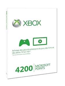 Carte Xbox Live 4200 Microsoft points