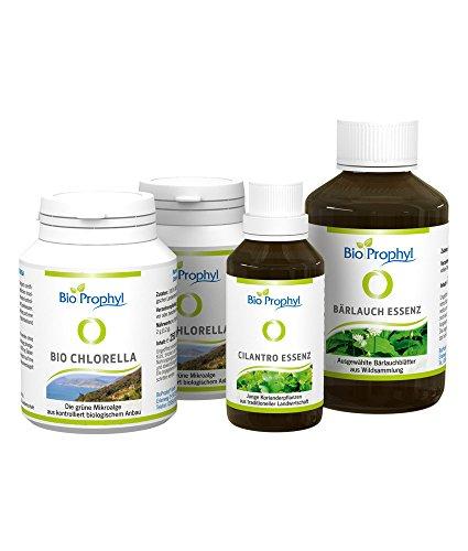 BioProphyl® Programm 'Ausleitung' - mit BIO Chlorella, Bärlauch- und Koriander-Essenz - rein natürlich ohne Zusätze - inkl. Anleitung -
