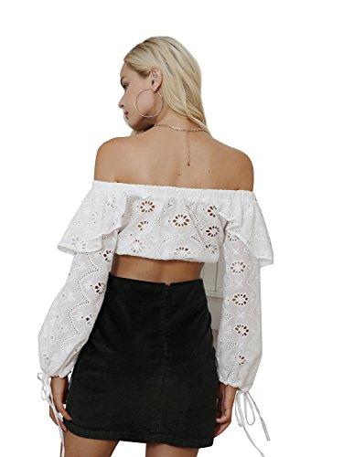 Missy Chilli Damen Kurz Rock Vintage A-Linien High Waist Blumen Stickerei Eng Röcke Cordrock Skirt Dunkel Grün