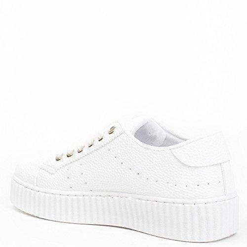 Sapatos Senhoras Sapatos Branca Sapatilha Ideais Ideais BqPxprB