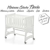 Bolin Bolon Colección 2018 Minicuna colecho Nicola color blanco