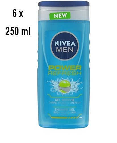 "Nivea Duschgel Men ""Power Refresh"" - 6er Pack (6 x 250 ml)"