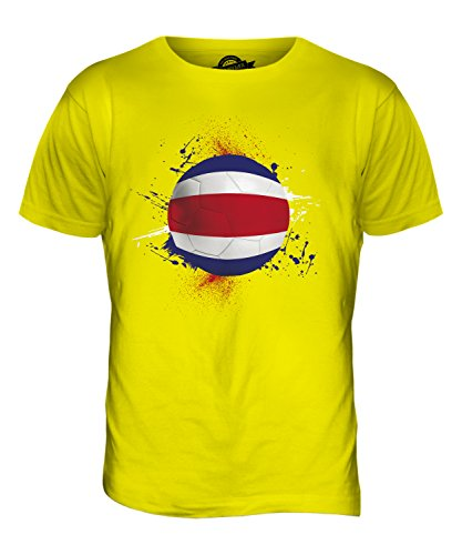 CandyMix Costa Rica Fußball Herren T Shirt Zitronengelb