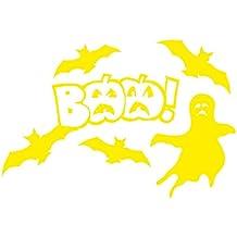 1336__Y Autocollant mural Halloween decorations, BAA! ( Yellow)