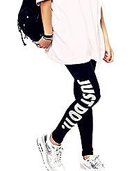 Work Out Druck Lang Leggings Leggins Damen Gymnastik Sport Hose Fitness Training Jogging Yoga Stretch Hose mit Aufdruck