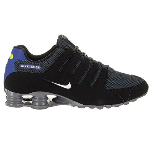 Nike Mens Shox NZ Special Edition Black/White-Paramount Blue Mesh Trainers 41 EU