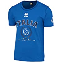 Errea camiseta de la selección italiana de volley, voleibol, manga corta, unisex, azul, 17/18, azul claro