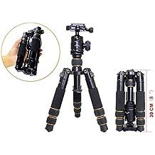 Koolehaoda KQ-166 Reise-bewegliches Ministativ mit Kugelkopf für DSLR Kamera Canon Nikon (KQ-166N)