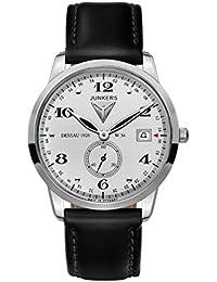 Junkers Herren-Armbanduhr XL FlatLine Analog Quarz Leder 63344