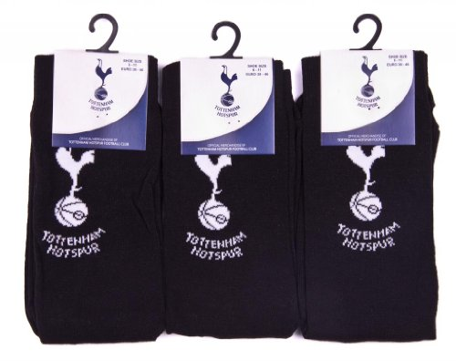 3pairs Official Tottenham Spurs Designer Dress Design Club Crest Logo Pattern Socks UK Shoe Size 6-11