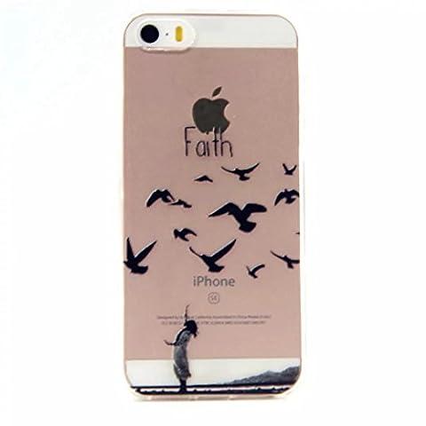MUTOUREN für iPhone SE 5 5S Transparent TPU Silikon Schutz
